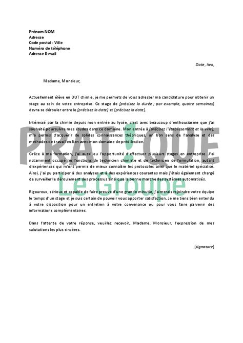 Exemple De Lettre De Motivation Iut modele lettre de motivation master 2 chimie document