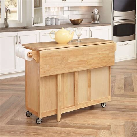 Small Movable Kitchen Island Furniture Folding Wing Wwooden Movable Kitchen Island