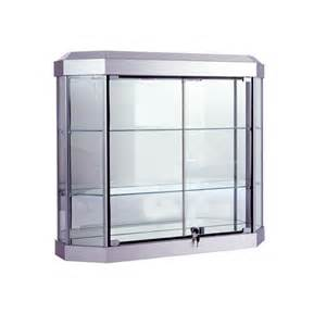 Wall Mounted Glass Curio Cabinets Glass Curio Cabinet W Lock Lights Subastral