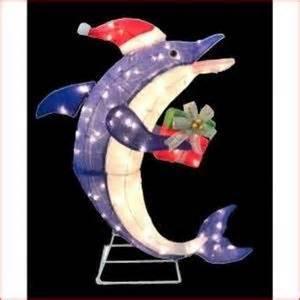 Dolphins decor handmade flower christmas lights christmas dolphins