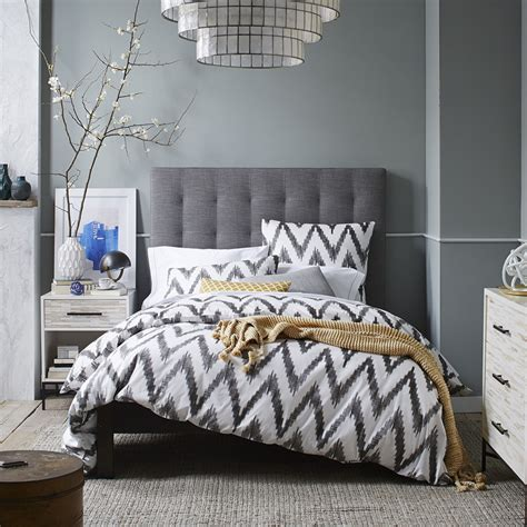 West Elm Headboard by Grid Tufted Headboard West Elm Uk