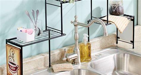 sink rack coffee kitchen decor shelf space saver