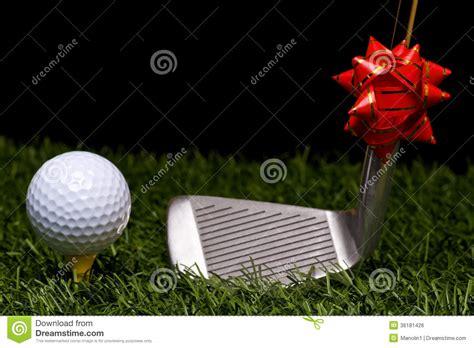 golf and christmas stock photo image of recreational