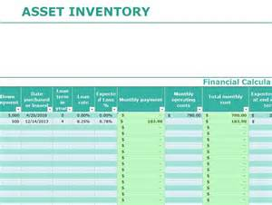 asset inventory template my excel templates