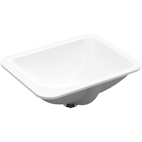 Undermount Bathroom Sink In White Kohler Caxton Rectangle Undermount Bathroom Sink In White