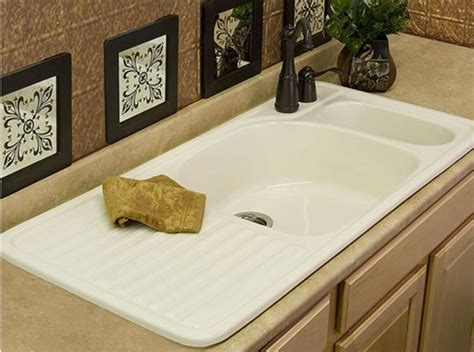 ceramic sink with drainboard farmhouse drainboard sinks retro renovation