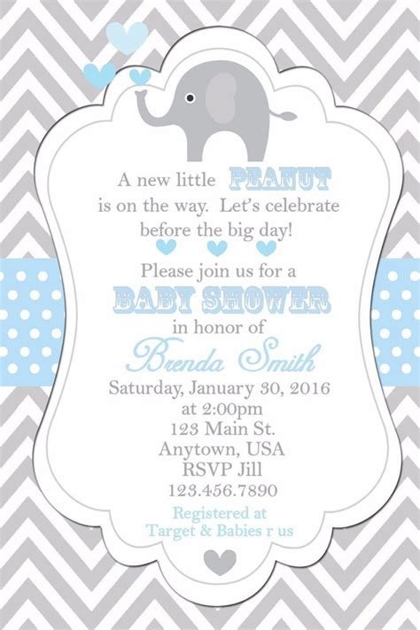 Elephant Baby Boy Shower Invitations by Baby Shower Invitation Elephants Invitation Baby Shower
