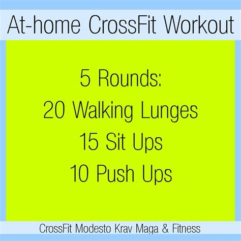 crossfit workout you can do at your house at home