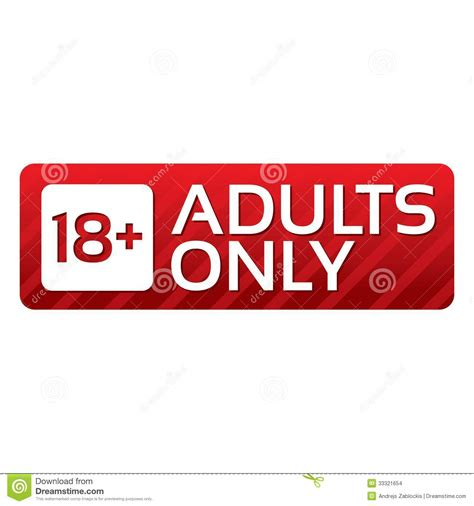 Couples Only Adults Only Content Button Vector Sticker Stock