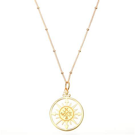 Compass Necklace gold vermeil compass pendant necklace