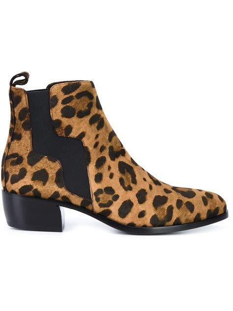 hardy leopard print boots in brown lyst
