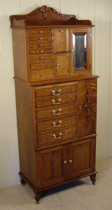 American Cabinet American Cabinet Co Oak Dental Cabinet 51