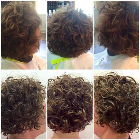 deva curl hairstyles for short hair before after deva curl cut with subtle bayalage