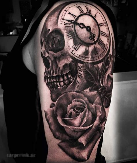 skull tattoo designs forearm skull clock designs and ideas 2017