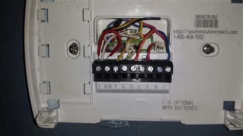 goodman heat thermostat wiring