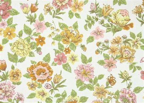 1960s Floral Wallpaper
