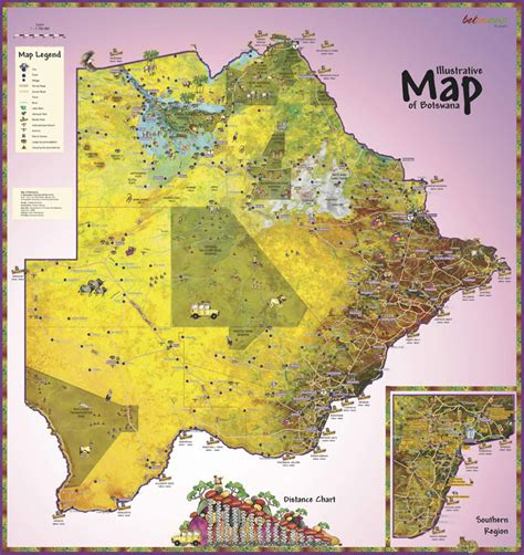 botswana map index of country africa botswana maps