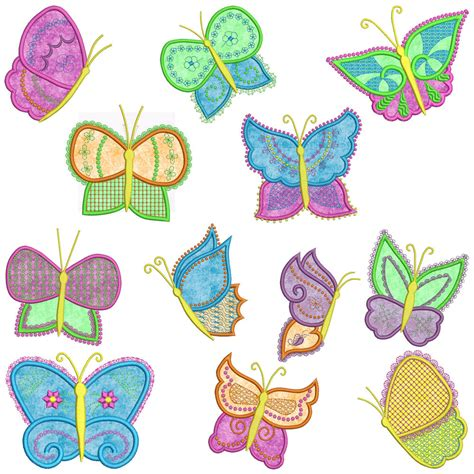 embroidery machine applique designs butterflies machine applique embroidery patterns 12