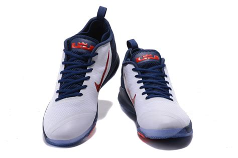 navy and white basketball shoes nike lebron zoom witness 2 usa midnight navy white