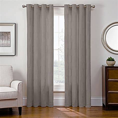 curtain snaps buy sharper image 174 cassie 95 inch grommet top snap in