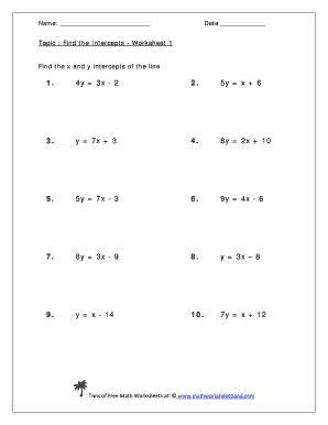 Finding X And Y Intercepts Worksheet by Graphing Using Intercepts Worksheet Worksheets Tutsstar