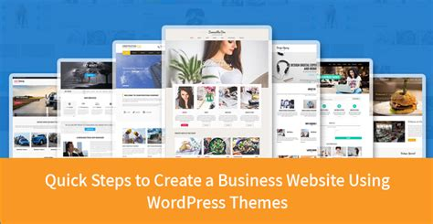 wordpress theme quickstep quick steps to create a business website using wordpress