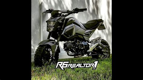 honda grom road tires 2017 honda grom with yoshimura exhaust top speed run dirt
