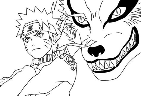 anime boruto hitam putih 15 contoh sketsa gambar kartun untuk mewarnai