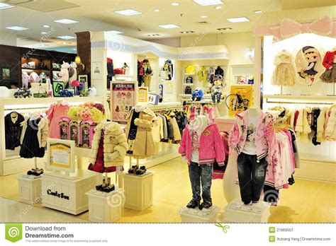 kid clothes store children s clothing editorial photo image 21869551
