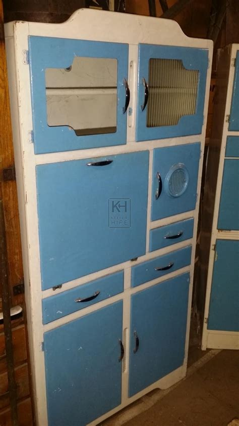 70s cabinets retro 70s and 80s prop hire 187 blue kitchen larder cabinet