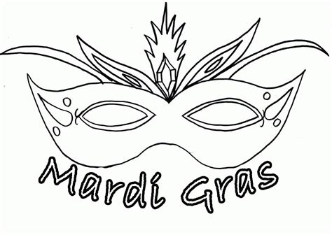 mardi gras masks coloring pages coloring home