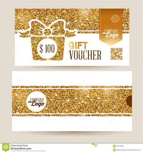 Luxury Gift Card Template by Gift Voucher Set Stock Vector Illustration Of Envelope