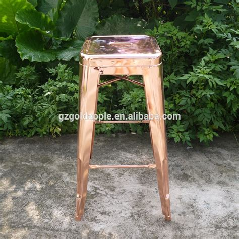 Antique Gold Bar Stools by Vintage Style Gold Industrial Outdoor Metal