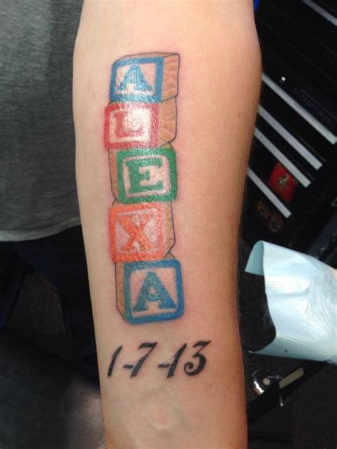 baby block tattoo designs name in alphabet blocks by a r t graduate bill aquino