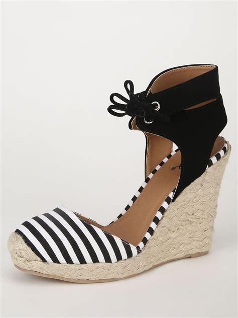 nautical wedge sandals buy qupid nautical wedge sandals for s multi