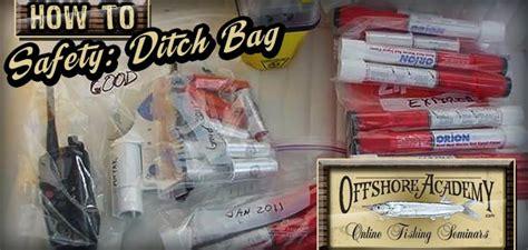 boat safety ditch bag safe boating get a ditch bag