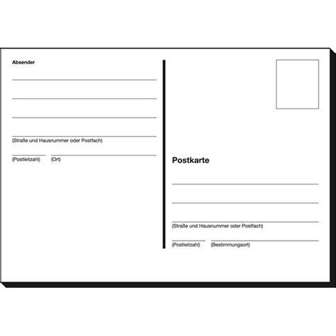 Postkarten Drucken Einzeln by Postkarte A6 Block Ph610 Bei Schreibwaren B 252 Robedarf De