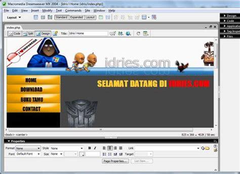 contoh web design dengan html percantik web dengan pop up menu idris blog