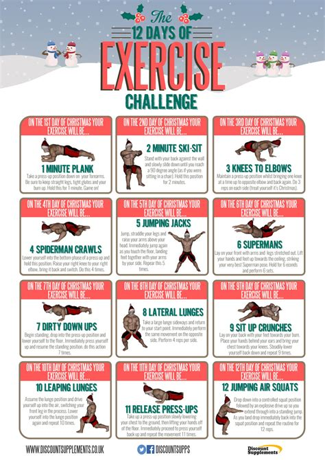 fitness challenge exercises the 12 days of exercise challenge my fitness