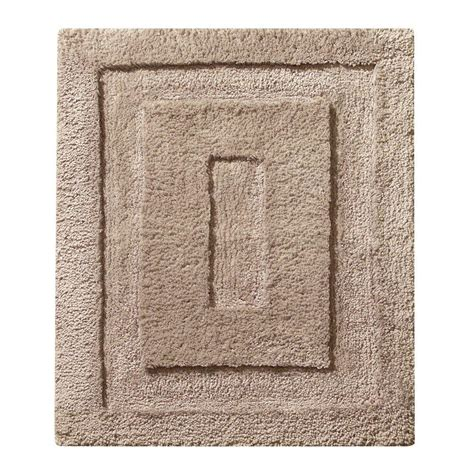 Small Bathroom Rugs Interdesign 21 In X 17 In Spa Small Bath Rug In Linen 17037 The Home Depot