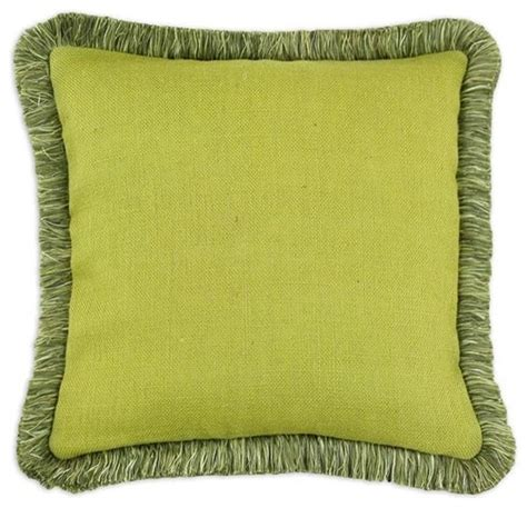 Pillows With Fringe by Custom Fringed Square Pillow Traditional Decorative