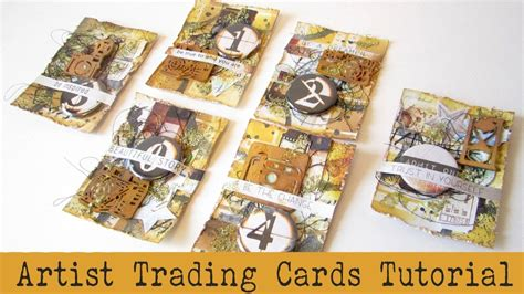 how to make a trading card handmade atcs how to make atcs artist trading cards