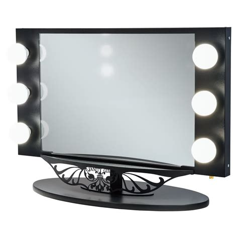 bedroom vanity with lighted mirror photos and