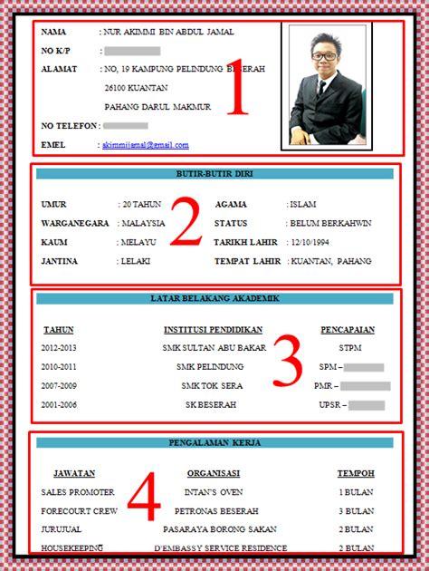 format cv lengkap spice of my life contoh resume lengkap