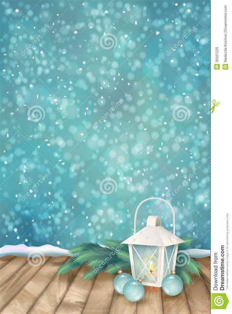 vector winter christmas scene background royalty