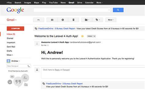 laravel mail tutorial sending emails with laravel 4 gmail