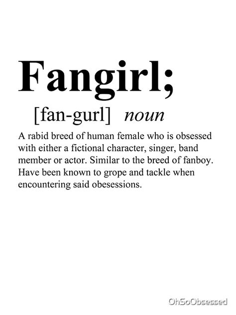 """""""Fangirl Definition"""" Stickers by OhSoObsessed 