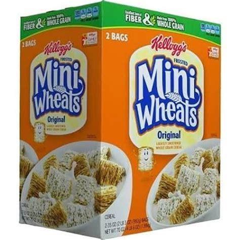 whole grain kellogg s cereal whole grain kellogg s frosted mini wheats 3 70oz