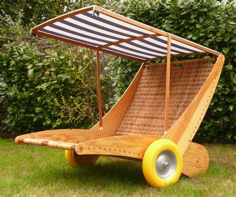 homemade and multi functional beach chair, pliewood and