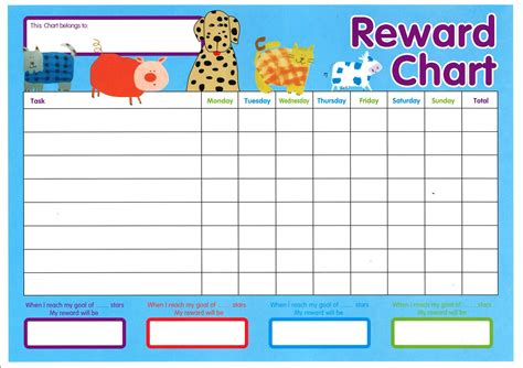 reward chart template word chuckles and smiles august 2010
